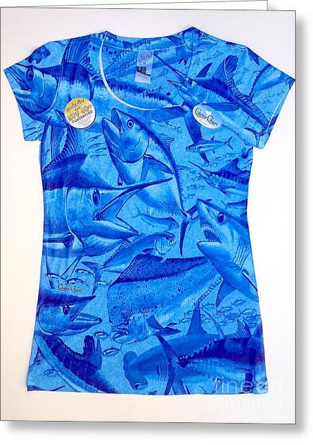Ladies Gamefish Collage Shirt Greeting Card
