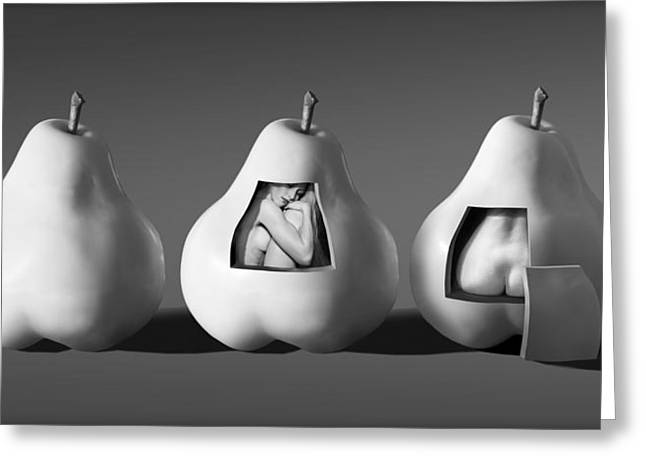 Ladies In Pears Greeting Card by Ron Schwager
