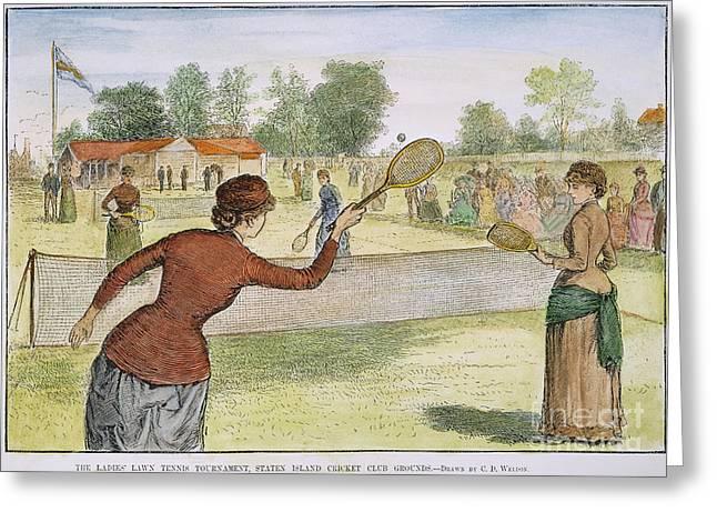 Ladies Lawn Tennis, 1883 Greeting Card