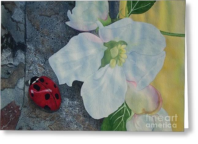 Lady Blossom Greeting Card by Jennifer Taylor Rogerson
