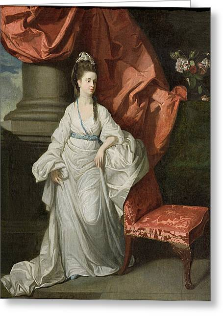 Lady Grant - Wife Of Sir James Grant Greeting Card by Johann Zoffany