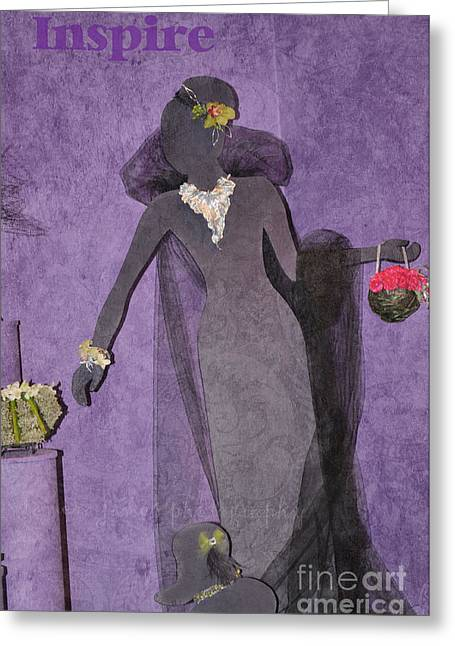 Greeting Card featuring the photograph Lady In Grey by Tamera James