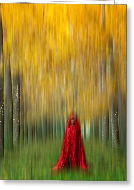 Lady In Red - 9 Greeting Card by Okan YILMAZ