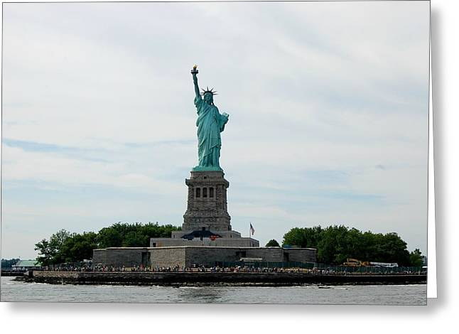 Lady Liberty Greeting Card by Beverly Hammond