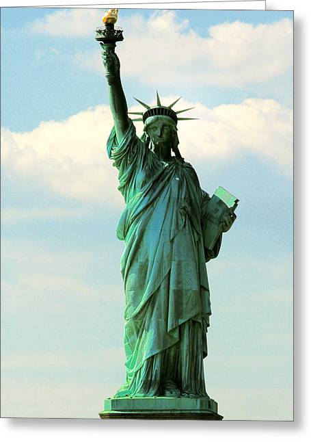 Lady Liberty Greeting Card by Artistic Photos