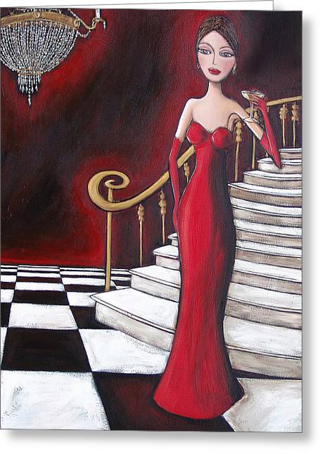 Lady Of The House Greeting Card by Denise Daffara
