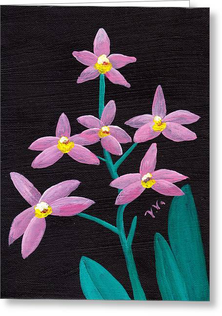 Laelia Lucasiana Orchid Greeting Card