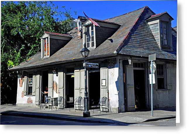 Greeting Card featuring the photograph Lafittes Blacksmith Shop by Helen Haw
