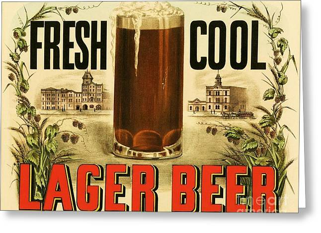 Lager Beer Greeting Card by Pg Reproductions