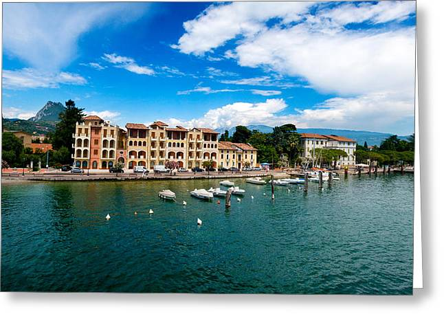 Lago Di Garda In Italy In Early Spring  Greeting Card by Ulrich Schade