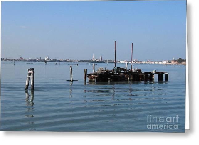 Lagoon. Venice Greeting Card by Bernard Jaubert