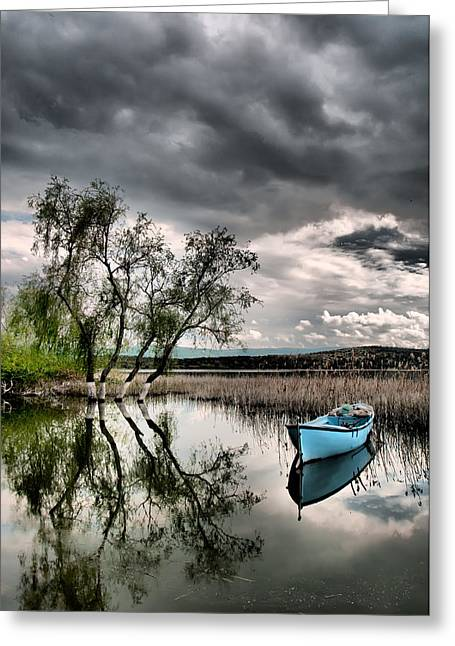 Greeting Card featuring the photograph Lake - 1 by Okan YILMAZ