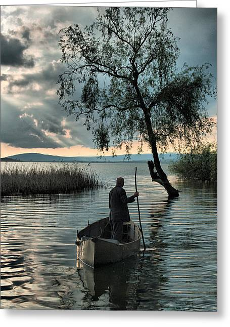 Greeting Card featuring the photograph Lake - 2 by Okan YILMAZ