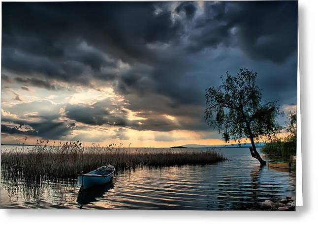 Greeting Card featuring the photograph Lake - 3 by Okan YILMAZ
