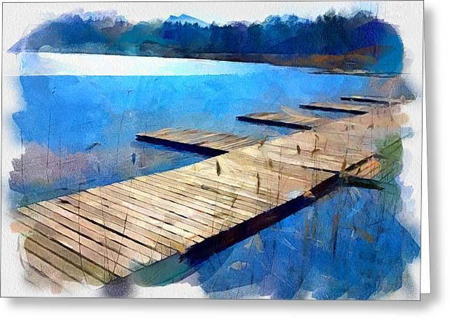 Lake 3 Greeting Card by Yury Malkov