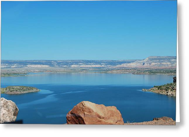 Greeting Card featuring the photograph Lake Abiquiu by William Wyckoff