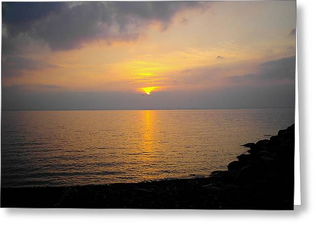 Lake At Sunset Greeting Card by Christoffer Saar