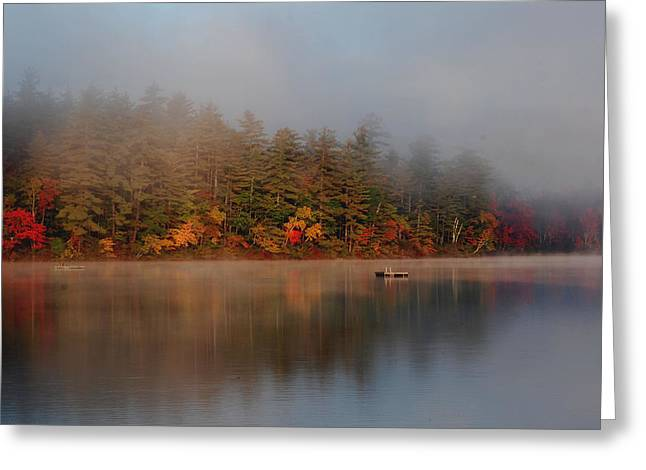 Greeting Card featuring the photograph Lake Chocorua Sunrise by Nancy De Flon