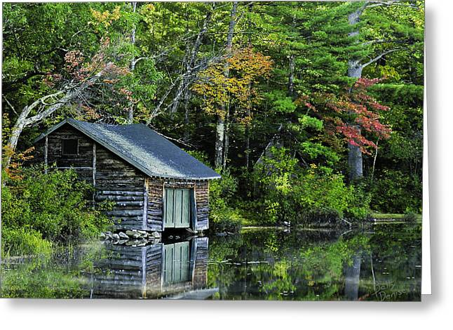 Greeting Card featuring the photograph Lake Chocoura Boathouse by Betty Denise