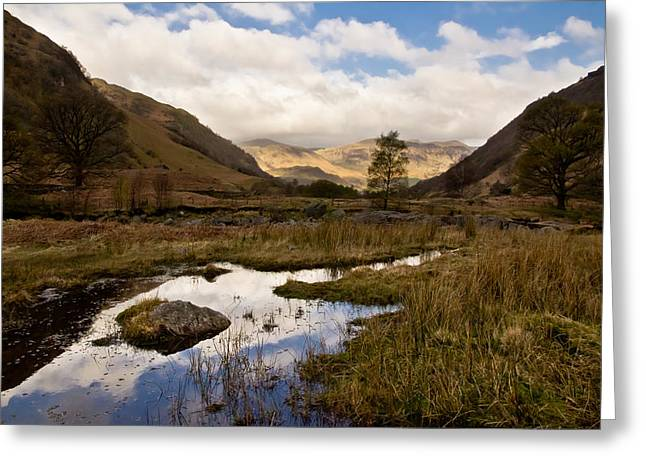 Greeting Card featuring the photograph Lake District Reflections by Justin Albrecht