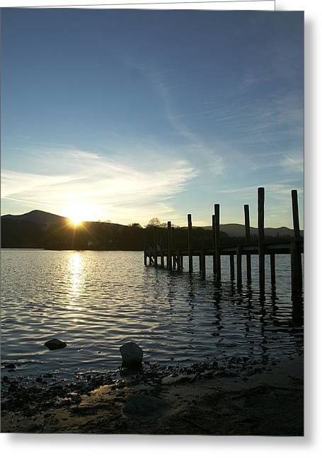 Lake District Sunset Greeting Card