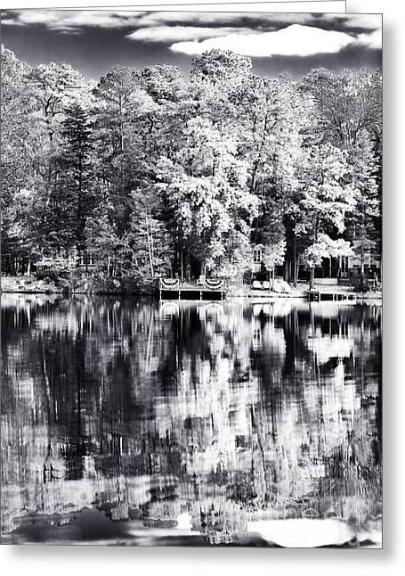 Lake Drama Greeting Card by John Rizzuto