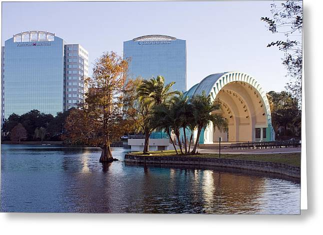 Lake Eola's  Classical Revival Amphitheater Greeting Card