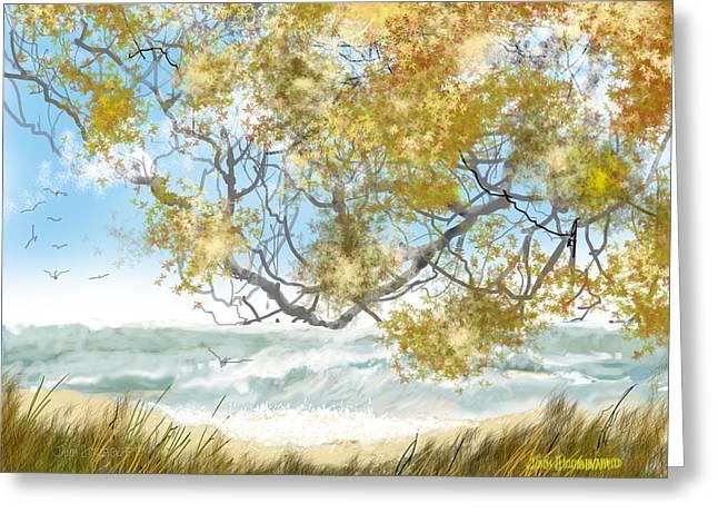 Lake Erie Anger Greeting Card by Jim Hubbard