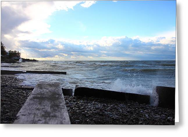 Lake Erie Fall Greeting Card by Kevin Schrader