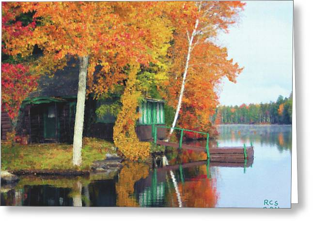 Lake Foliage Greeting Card by Richard Stevens