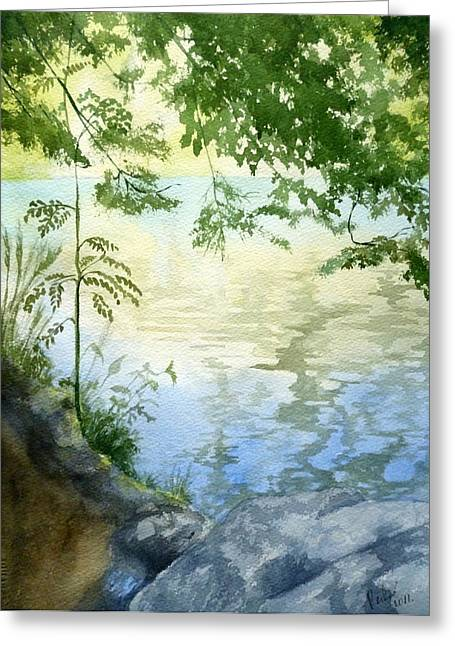 Lake Impression 2 Greeting Card by Eleonora Perlic
