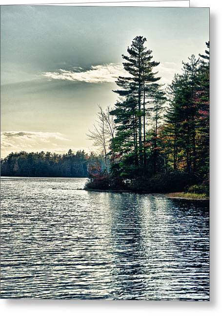 Greeting Card featuring the photograph Lake In Nh by Edward Myers