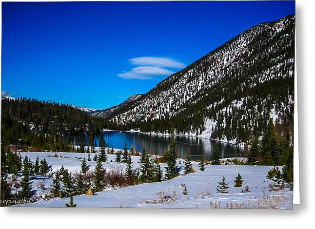 Greeting Card featuring the photograph Lake In The Mountains by Shannon Harrington
