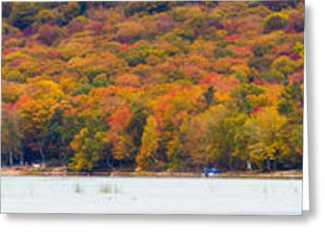 Lake Leelanau In The Fall Greeting Card by Twenty Two North Photography