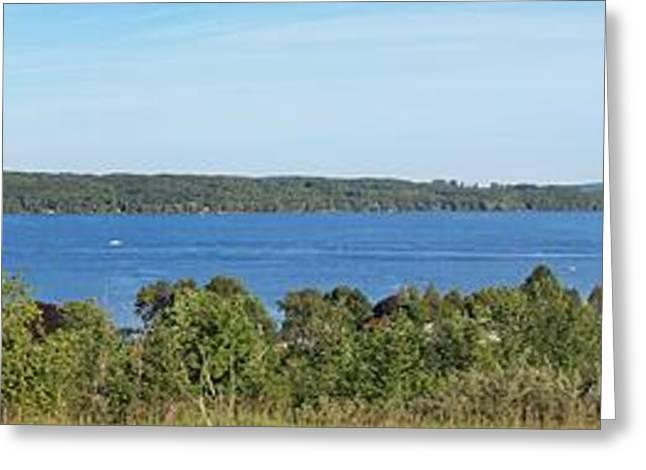 Lake Leelanau Panorama Greeting Card