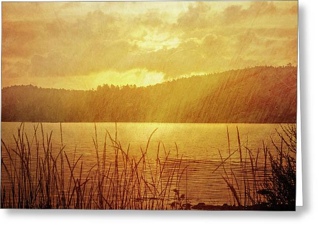 Lake Light Vintage Greeting Card by Lutz Baar