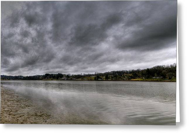 Greeting Card featuring the photograph Lake Logan Panorama by Brian Stevens
