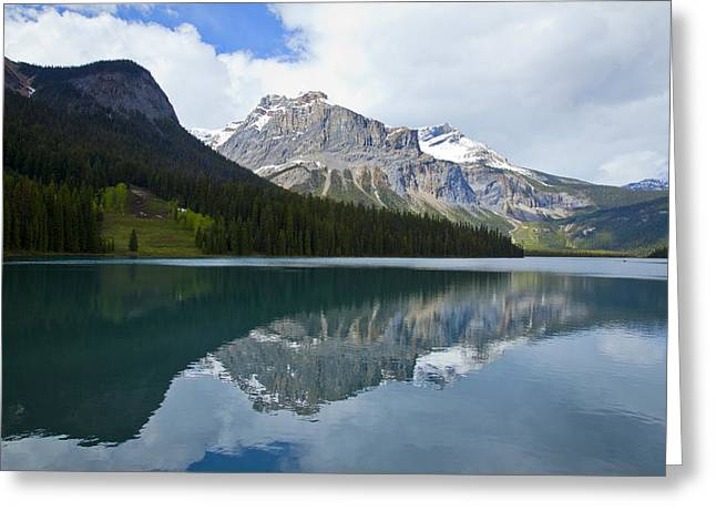 Lake Louise 1819 Greeting Card by Larry Roberson
