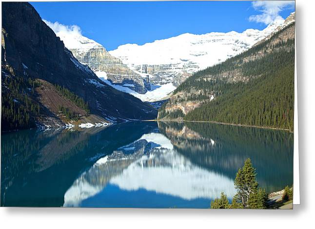 Lake Louise 1827 Greeting Card by Larry Roberson