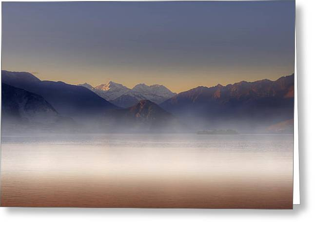 Lake Maggiore And Alps Greeting Card by Joana Kruse