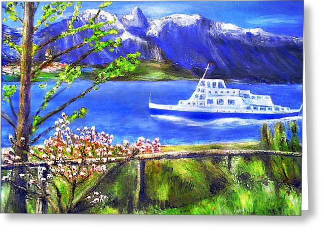 Lake Maggiore Greeting Card by Ronald Haber