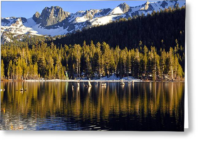 Lake Mary Reflections Greeting Card by Lynn Bauer