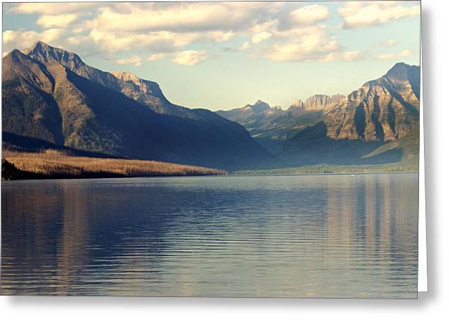 Lake Mcdonald At Sunset Greeting Card by Marty Koch