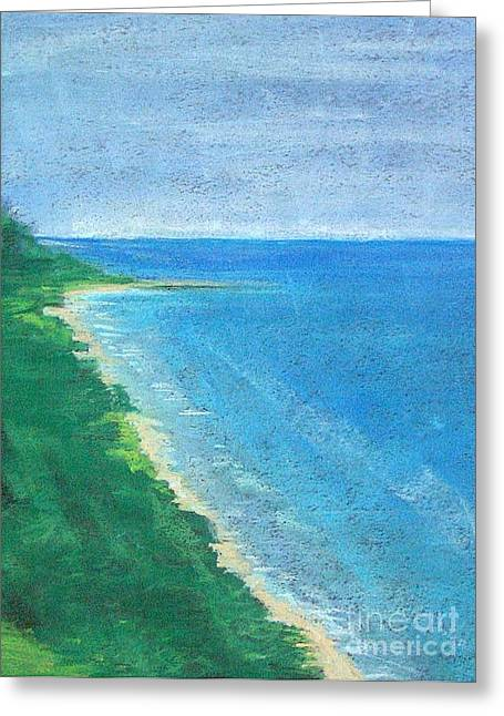 Lake Michigan Greeting Card by Lisa Dionne