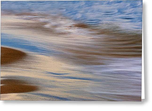 Lake Michigan Surf Greeting Card by Dean Pennala