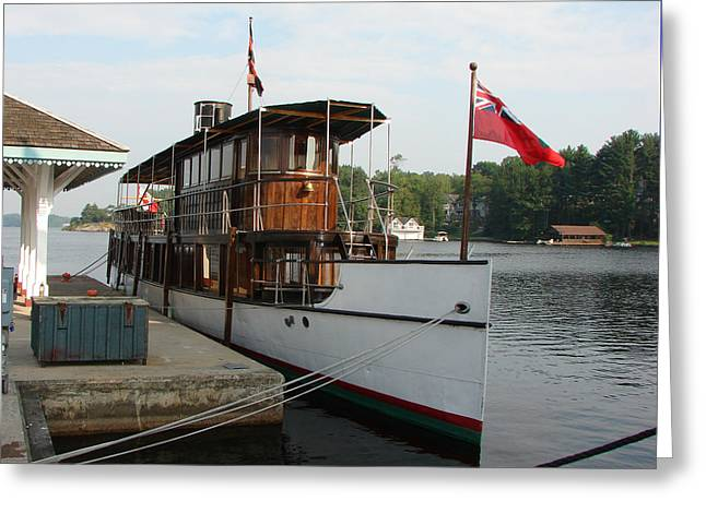 Lake Muskoka Steamer Greeting Card by Bruce Ritchie