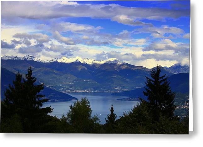 Lake Of Como View Greeting Card