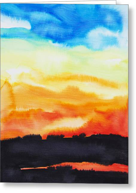 Lake Of Fire Greeting Card by Tara Thelen