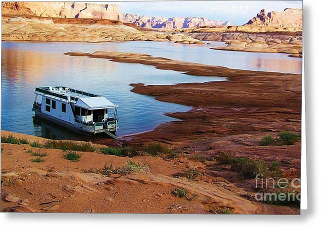 Lake Powell Houseboat Greeting Card