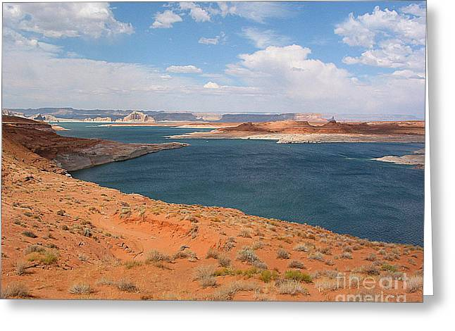 Lake Powell Landscape Panorama Greeting Card by Merton Allen